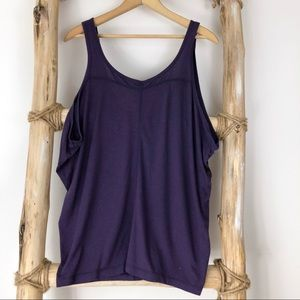 Slouchy Tank with Back Zipper